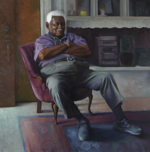 "Ashley Gardner Fredric Augustus, Oil on panel, 48""x48"", 2016 GLAMFA 2017"