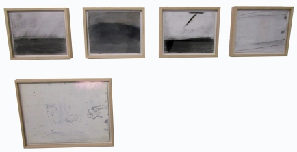 Andrea Brown/ (from left to right) The Sea 1, Untitled, The Sea 2, Space, Traveler Scene. LAST Projects. Photo Credit Patrick Quinn