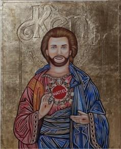 """Plastic Religion"" at La Luz De Jesus ""Ken Byzantine Icon"" Photo Courtesy of La Luz De Jesus"