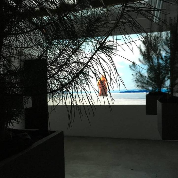 """Antonia Wright """"Under the water with sand, rocks, miles of rocks, then fire"""" Photo Courtesy Of Luis De Jesus Gallery"""