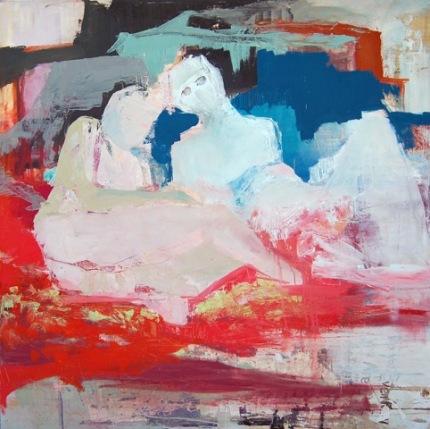 "Andrea Patrie Love And Devotion, Oil on canvas, 60""x60"", 2015 GLAMFA 2017"