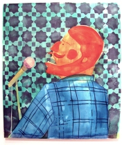 """""""Say It With Me"""" Yes, Please, and Thank You Projects: New Paintings by Orkideh Torabi Photo Credit Patrick Quinn"""