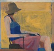 Richard Diebenkorn. Seated Figure with Hat. 1967. National Gallery of Art. Washington, D.C. ©2016 The Richard Diebenkorn Foundation