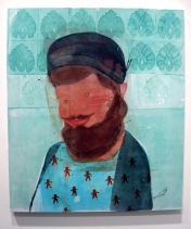 """""""The Protector"""" Yes, Please, and Thank You Projects: New Paintings by Orkideh Torabi Photo Credit Patrick Quinn"""