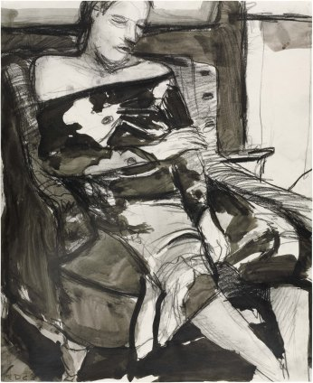 Richard Diebenkorn. Woman Seated in a Chair. 1963. The Baltimore Museum of Art. ©2016 The Richard Diebenkorn Foundation