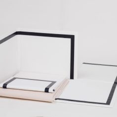 Escape Attempts. Photo Courtesy of Shulamit Nazarian. Carmen Argote, Folding Structure (raw), 2016, Paper mache, paint, and acrylic plastic core.