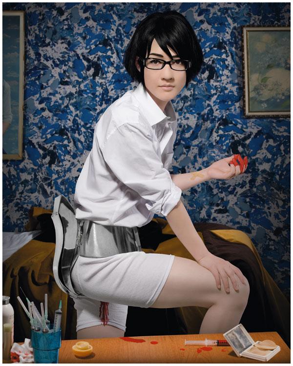 Masculine  Feminine. Photo Courtesy of The Beall Center for Art + Technology. Hiromi Ozaki. Menstruation Machine. 2010.