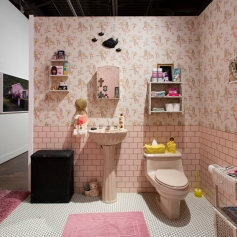 Installation, Genevieve Gaignard, Smell the Roses at the California African American Art Museum. Photo Courtesy of CAAM.