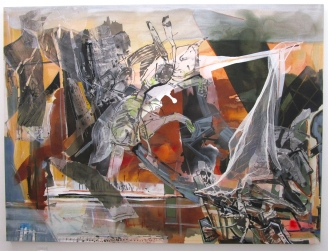 Iva Gueorguleva, L.A. River Landscape. By The River at ACME Gallery. Photo Credit Patrick Quinn.
