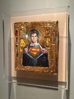 Ironic Icons: The Art of Valentin Popov, St. Superman. Photo Credit Amy Kaeser.