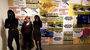 Not Ready to Make Nice: Guerrilla Girls in the Art World & Beyond at the Robert and Frances Fullerton Museum of Art at California State University, San Bernardino. Photo Credit Jacqueline Bell Johnson