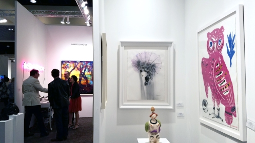 Booth Display of Decorazon. Palm Springs Art Fair 2017, February 16-18, 2017 at the Palm Springs Convention Center. Photo Credit Jacqueline Bell Johnson.