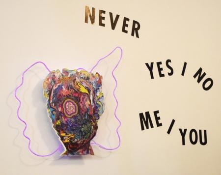 Doraelia Ruiz, Never Yes No Me You. Brainworks Gallery. Photo Credit Kristine Schomaker.