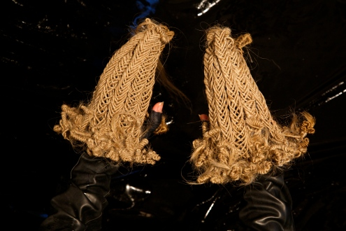 "Ciriza. ""Hair Sanctum For Hands"" Hexon/Hexoff at Noysky Projects. Photo Courtesy of the Gallery."