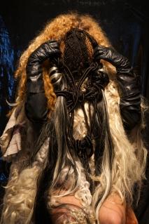 "Ciriza. ""Hair Face Casket For Oya"" Hexon/Hexoff at Noysky Projects. Photo Courtesy of the Gallery."