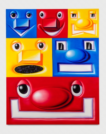 Kenny Scharf, BLOX and BAX. Honor Fraser Gallery. Blox. 2016. Oil on Canvas. 120 x 96 inches. Photo Joshua White/JWPictures.com. Courtesy Honor Fraser Gallery.