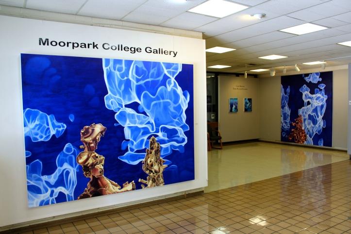 Gary Brewer: Dark Matter Paintings. Moorpark College Art Gallery. Photo by Erika Lizee.