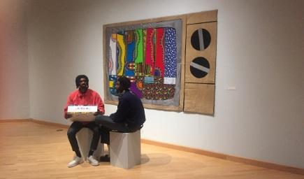 Derrick Adams. California African American Museum. Photo Credit Shana Nys Dambrot.