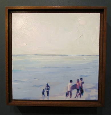 Lisa Golightly. Blue Beach Scene. Girl Crush at The Good Eye Gallery. Photo Courtesy of Patrick Quinn.