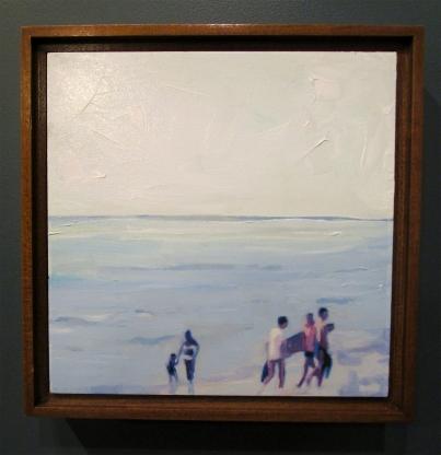 Lisa Golightly. Blue Beach Scene. Girl Crush at The Good Eye Gallery. Photo Courtesy of Patrick Quinn.