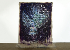 """Nick Brown. """"Night Like Water"""" Hexon/Hexoff at Noysky Projects. Photo Courtesy of the Gallery."""