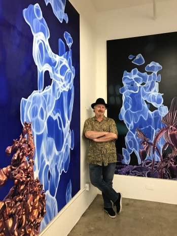 Gary Brewer: Dark Matter Paintings. Moorpark College Art Gallery. Photo by Genie Davis.