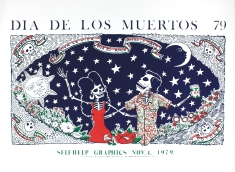 Self Help Graphics and Art Dia De Los Muertos, A Cultural Legacy: Past, Present and Future. Alfredo Batuc, Dia De Los Muertos, 1979. Copyriight: Self Help Graphics & Alfredo Batuc.
