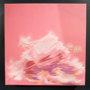 Stephanie Kelly Clark. Pink Day Clouds. Girl Crush at The Good Eye Gallery. Photo Courtesy of Patrick Quinn.