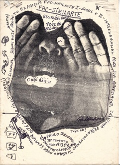 University of San Diego, University Galleries Copyart: Experimental Printmaking in Brazil 1970-1990s. Paulo Bruscky, Facsimil-arte, 1980, photo copy and fax. Photo Courtesy of the Artist.
