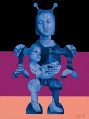 RaphaelBot-1. Dialogs with the Future. Robert Nelson. Brainworks Gallery. Photo Credit Kristine Schomaker