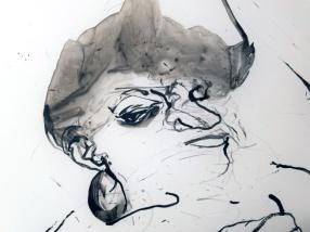 Kenyatta AC Hinkle. Black Mirror. Charlie James Gallery. Photo Credit Jacqueline Bell Johnson.