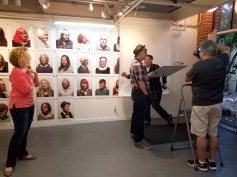 "Tony Pinto ""Artist Seen"" residency and solo show at Shoebox Projects. Photo Credit Kristine Schomaker"