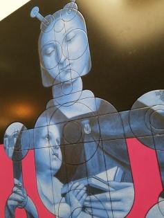 RaphaelBot-1. Detail. Dialogs with the Future. Robert Nelson. Brainworks Gallery. Photo Credit Kristine Schomaker
