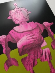 RaphaelBot-2. Detail. Dialogs with the Future. Robert Nelson. Brainworks Gallery. Photo Credit Kristine Schomaker