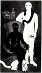 Belkis Ayón, La familia (The Family), 1991 Collograph. Nkame: A Retrospective of Cuban Printmaker Belkis Ayón Fowler Museum at UCLA, Photo Courtesy of the Fowler Museum.