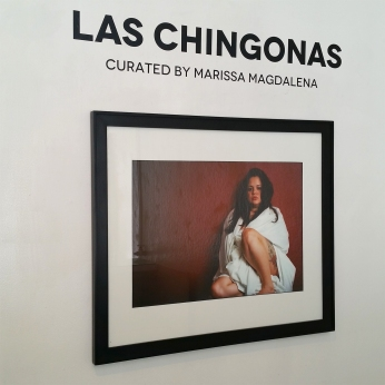 Aydinaneth Ortiz. Self Portrait. Los Chingonas. Avenue 50 Studio. Photo Credit Patrick Quinn.