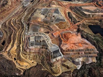 Edward Burtynsky. Industrial Abstract. Von Lintel Gallery. Photo Courtesy of the Artist and Von Lintel Gallery.
