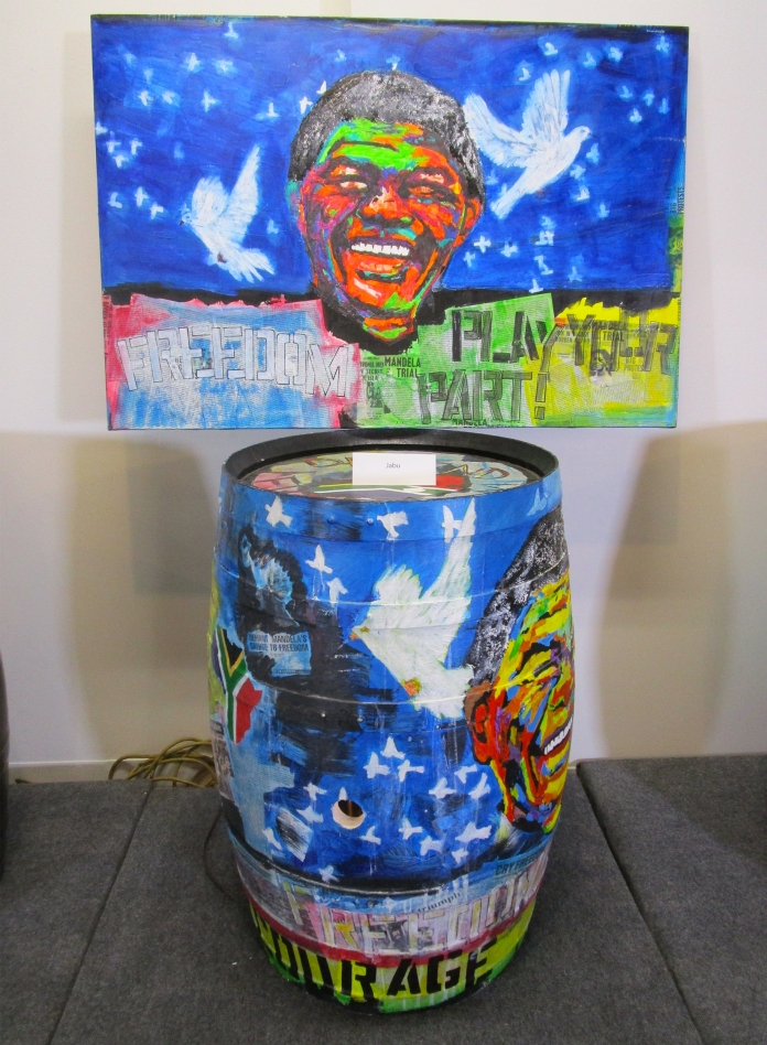 Botart International Barrel Art Exhibition- Jabu. Fabrik Expo. Photo Credit Patrick Quinn.