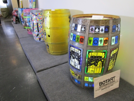 Botart International Barrel Art Exhibition - Judson Studios. Fabrik Expo. Photo Credit Patrick Quinn.