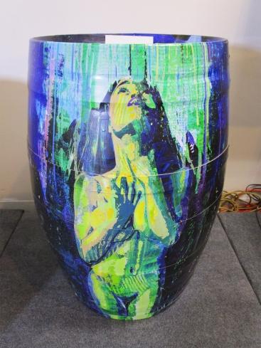 Botart International Barrel Art Exhibition - LP. Fabrik Expo. Photo Credit Patrick Quinn.