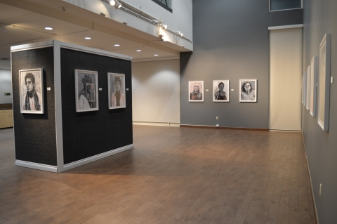 """Rebecca Campbell. """"You Are Here,"""" Kwan Fong Gallery at Cal Lutheran University. Photo Credit Cal Lutheran University."""