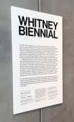 2017 Whitney Biennial. Whitney Museum of American Art, New York City, New York. Photo Credit Mario Vasquez.