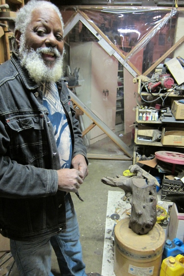 Studio Visit with Charles Dickson. Photo Credit Gary Brewer.
