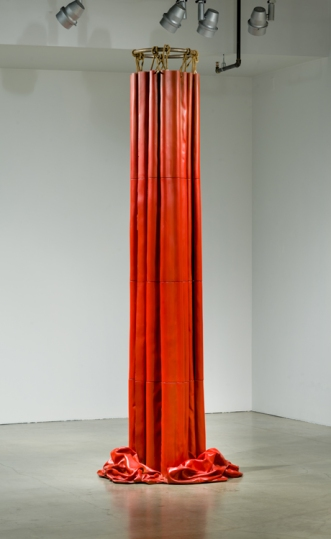 Jeff Colson. Draped Column. Pasadena Museum of California Art. Interstitial. Photo Courtesy of PMCA. Photo Credit Don Milici.