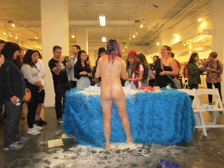 Jessica Fairfax Hirst Performance. Expo Contemporary. Fabrik Expo. Photo Credit Patrick Quinn.