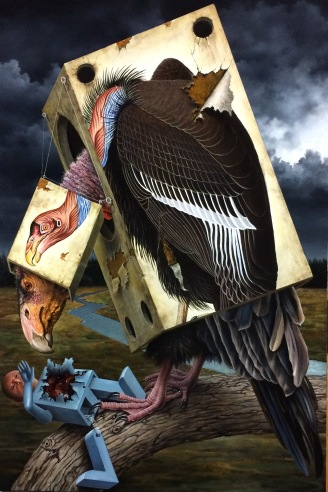 Jorge Santos. Vulture. Birds of America: Explorations of Audubon: The Paintings of Larry Rivers and Others. Photo Courtesy of 101/Exhibit.