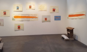 Installation View. Michael Deyermond: This is my heart, please don't use it against me. Craig Krull Gallery. Photo Courtesy of Craig Krull Gallery.