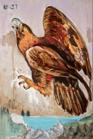 Nelson Loskamp. Golden Eagle. Birds of America: Explorations of Audubon: The Paintings of Larry Rivers and Others. Photo Courtesy of 101/Exhibit.