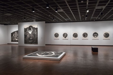 Installation view, Nkame: A Retrospective of Cuban Printmaker Belkis Ayón Fowler Museum at UCLA, 2016 Courtesy the Estate of Belkis Ayón Photo: Reed Hutchinson.