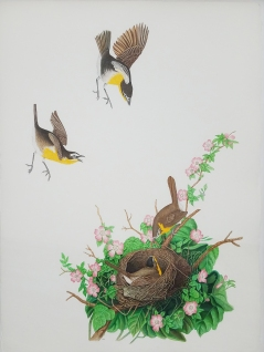 Robert Fleisher. Yellow Breasted Chat. Birds of America: Explorations of Audubon: The Paintings of Larry Rivers and Others. Photo Courtesy of 101/Exhibit.